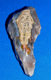 A large and very nicely worked Neolithic flint awl or borer from Swaffham, Norfolk. SOLD